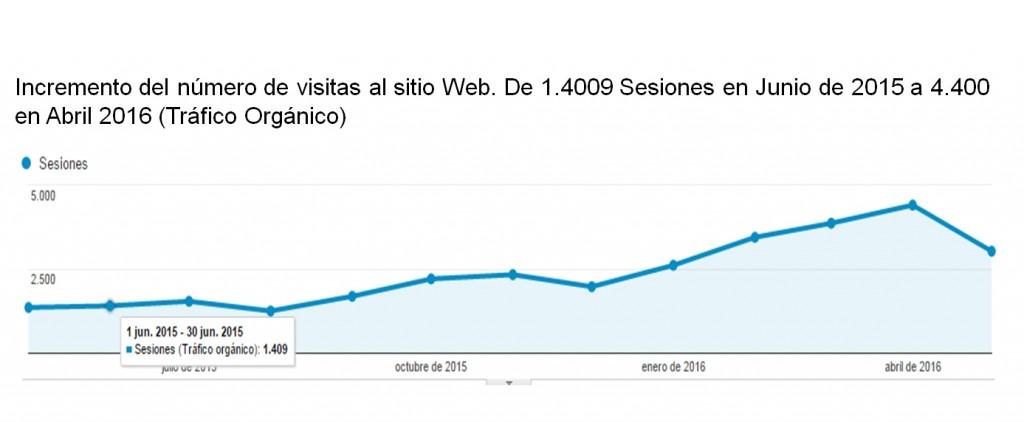 Posicionamiento SEO Granada - Caso éxito Aumento número de visitas