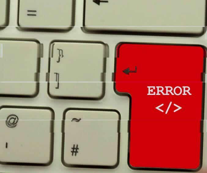 10 errores típicos en el desarrollo web