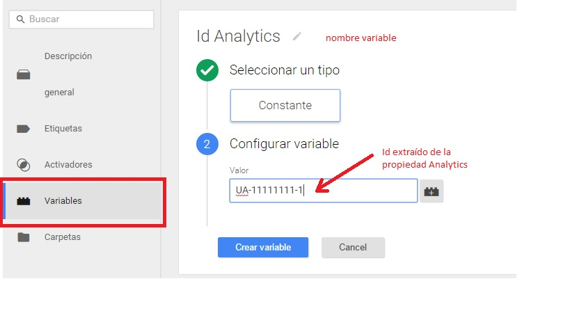 Google Analytics Tag Manager Variable