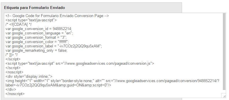 Conversiones Adwords con Tag Manager