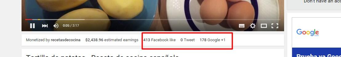 SEO en Youtube, métricas sociales