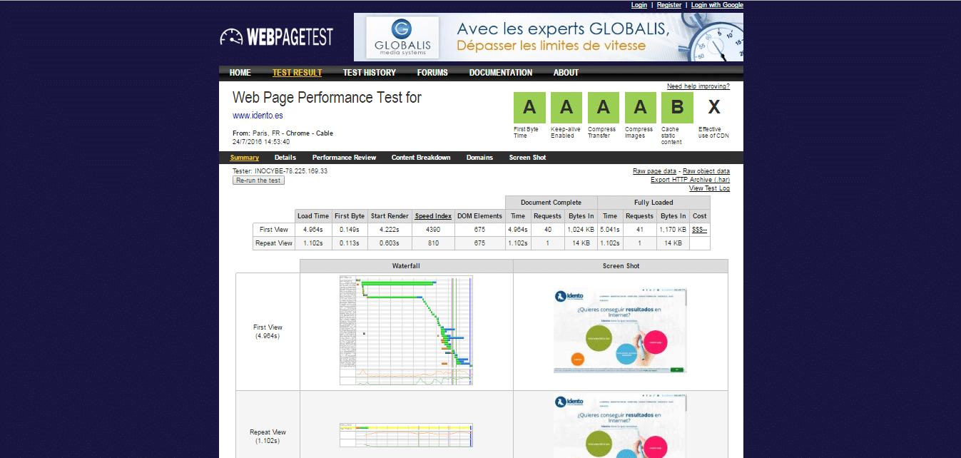 Herramientas SEO - WPO   Webpagetest