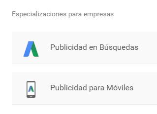 Especializaciones Google Partners