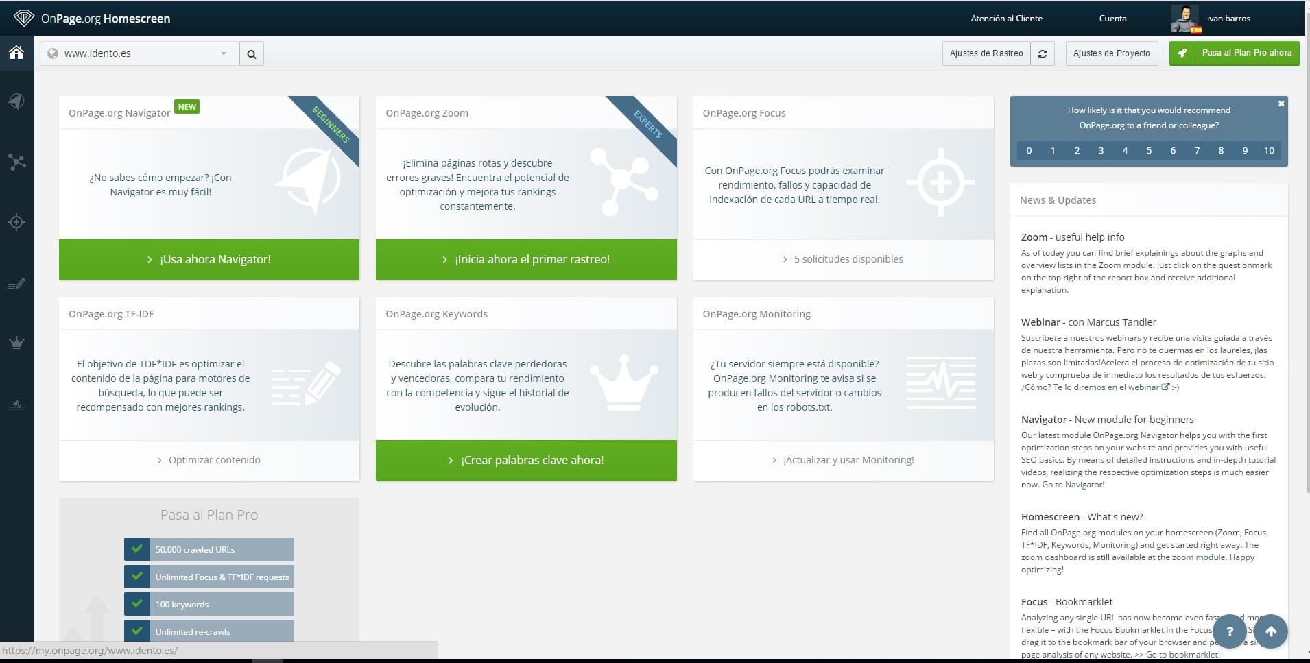 Herramientas SEO - Análisis Competencia y Backlinks | ONPage.org