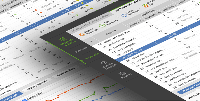 Herramientas SEO - Monitorización de posiciones   Rank Tracker