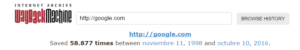 Ver páginas webs antiguas - veces que ha sido almacena esa web y entre que fechas se han realizado dichas copias