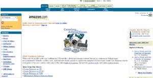 Ver páginas webs antiguas - Amazon año 1999