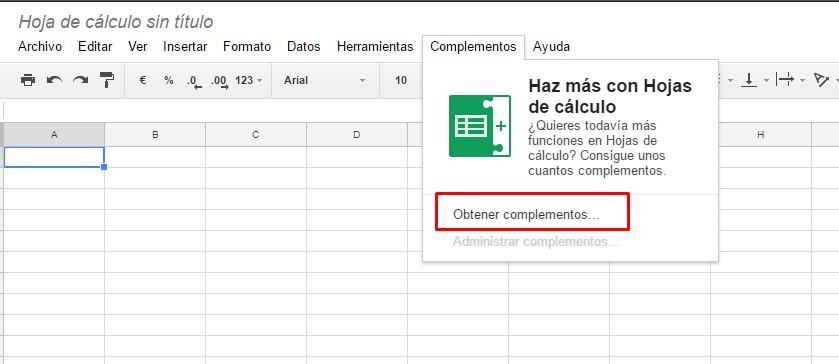Instalar complemento de Google Analytics