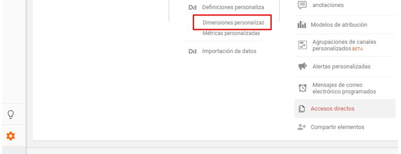 Dimensiones personalizadas Google Tag Manager