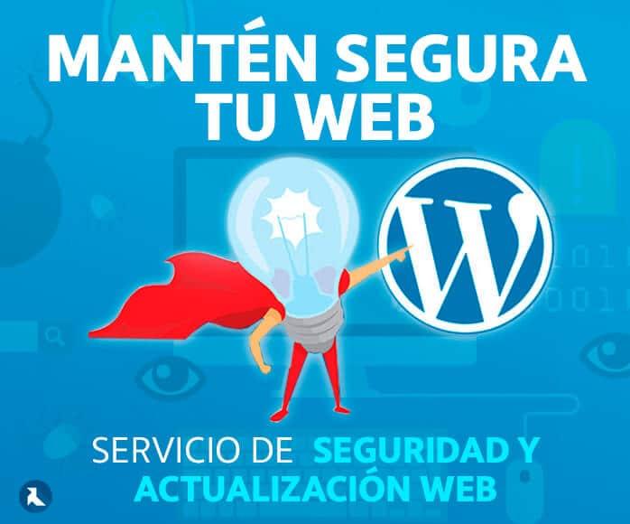 Servicio de mantenimiento, actualización y seguridad para Wordpress
