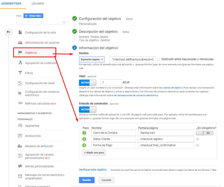Qué es un embudo de conversión - Ejemplo de embudo de conversión con Google Analytics